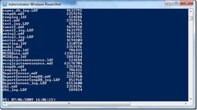 Find files by extension with Powershell
