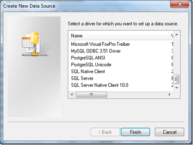 Create New Data Source Dialog