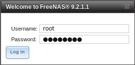 6 - FreeNAS Web Login